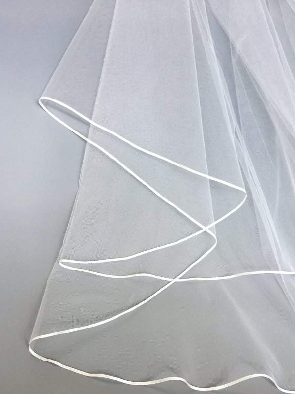 3mm ribbon on veil