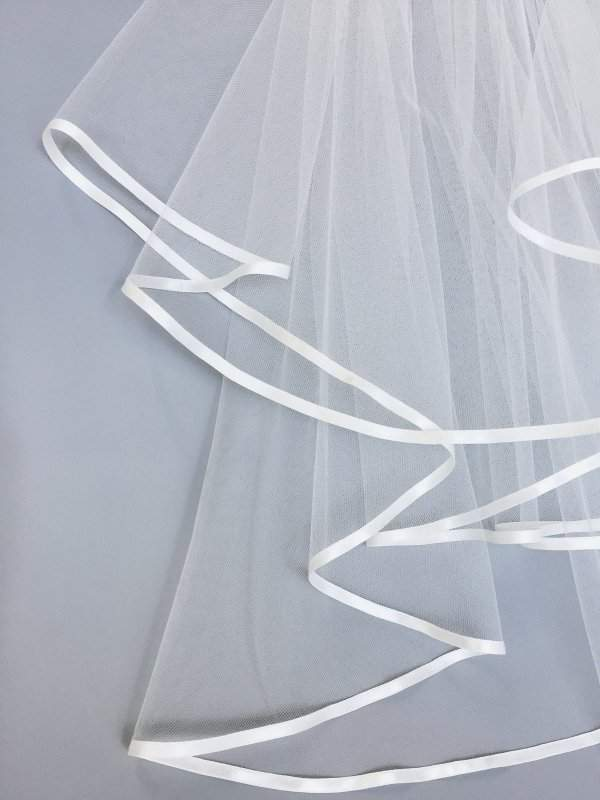 7mm ribbon on veil