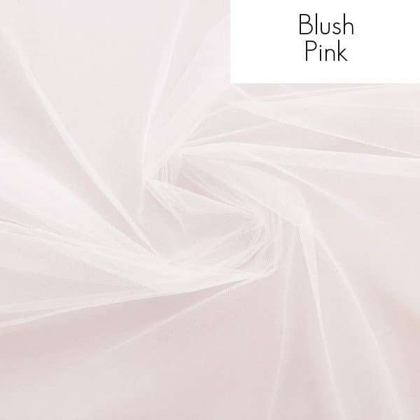 Veil fabric samples - Blush pink
