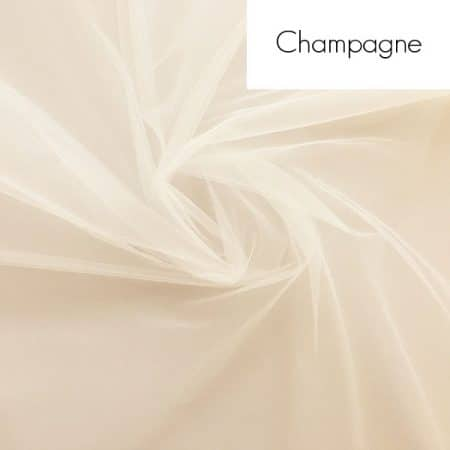 Veil fabric samples - Champagne tulle