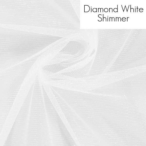 Veil fabric samples - Diamond White Shimmer