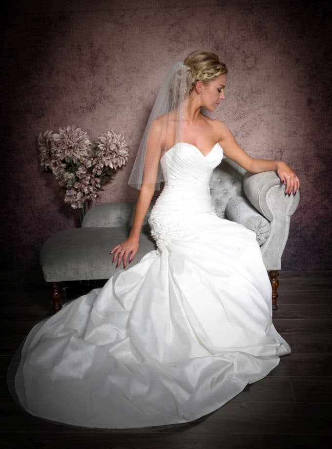elbow length veil with diamantes