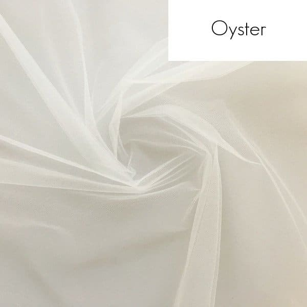 Veil fabric samples - Oyster tulle