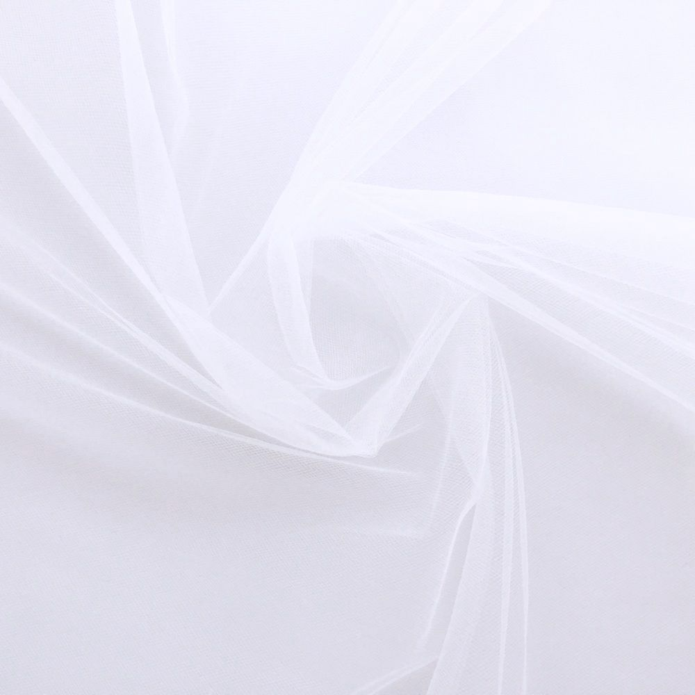 Veil Colours & Fabrics Guide - White tulle