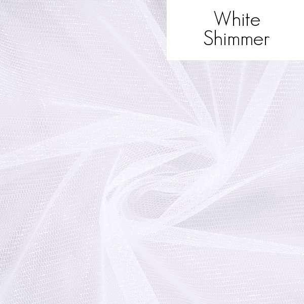 Veil fabric samples - White shimmer