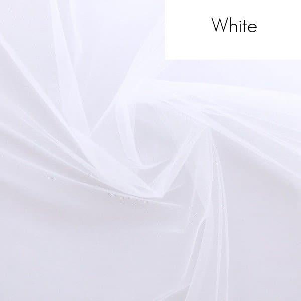 Veil fabric samples - White tulle