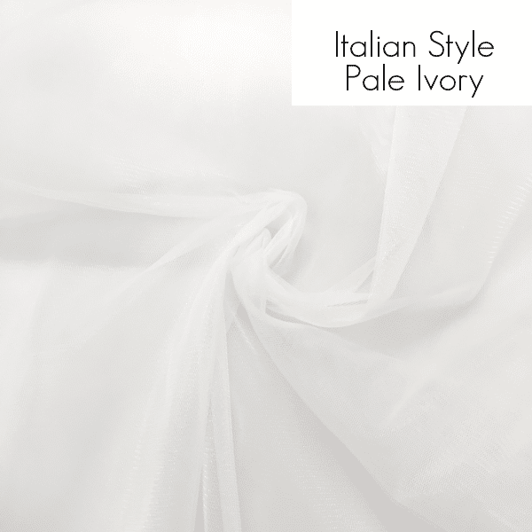 italian style pale ivory tulle square