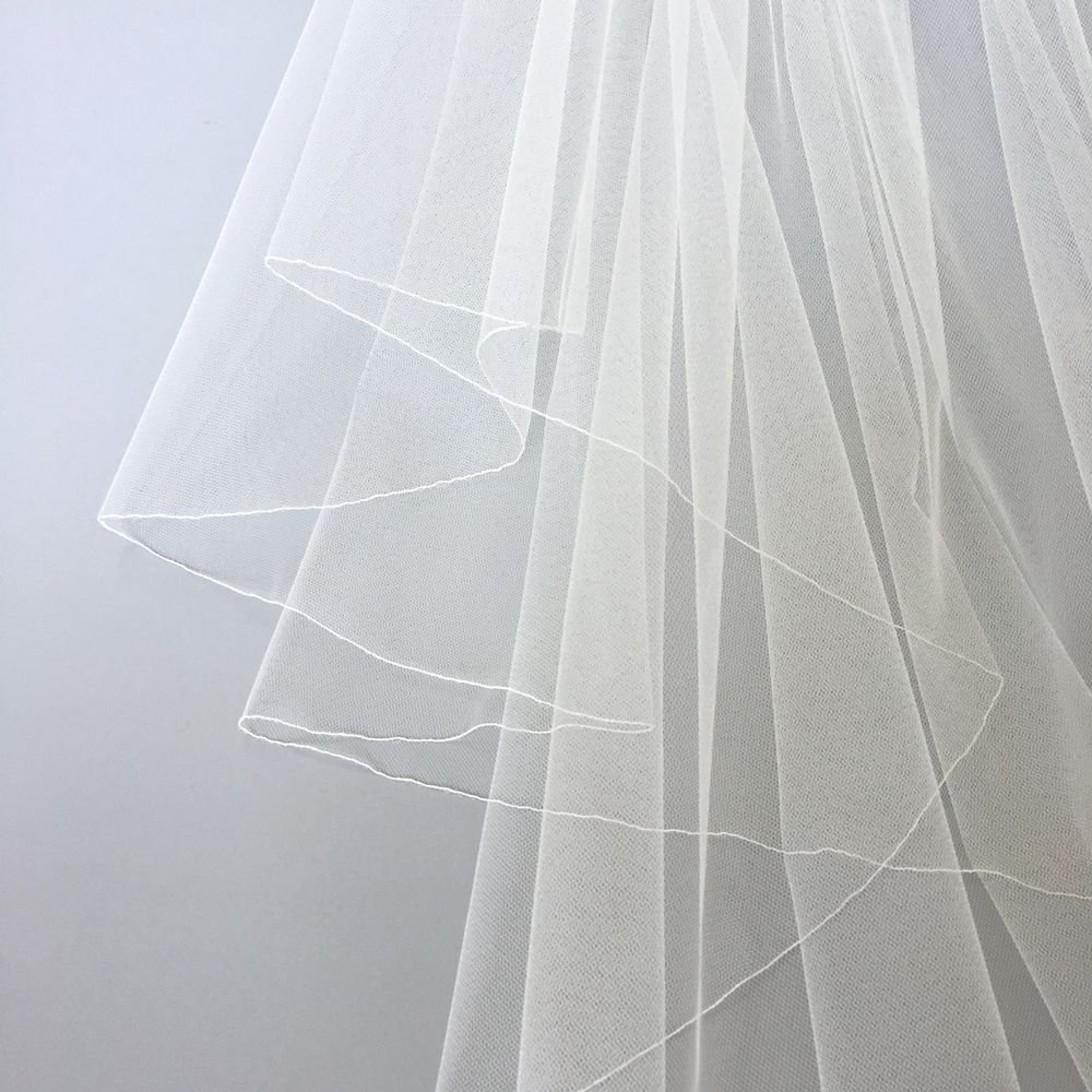 pencil edge on veil