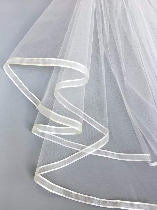 satin organza on veil