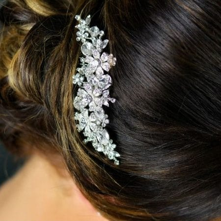 TLH3014 – diamante bridal hair comb with Swarovski