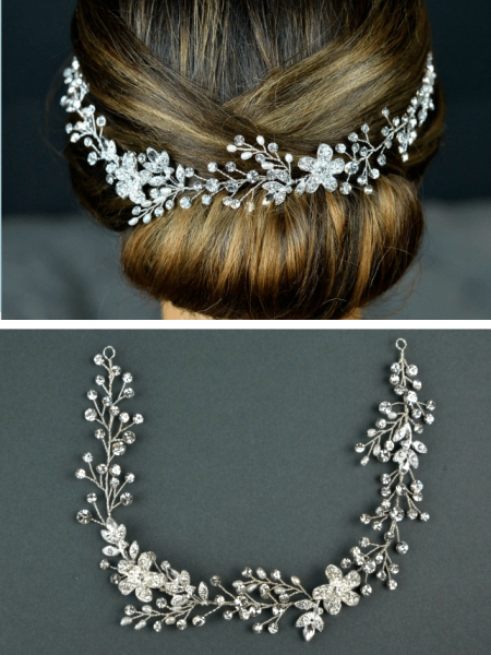 TLH3067 – freshwater pearl & diamante bridal hair vine