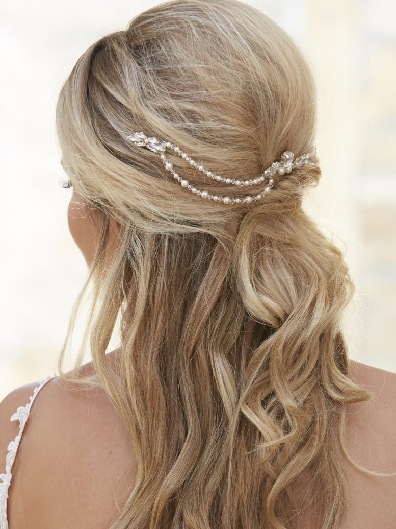 AR577 wedding hair drape