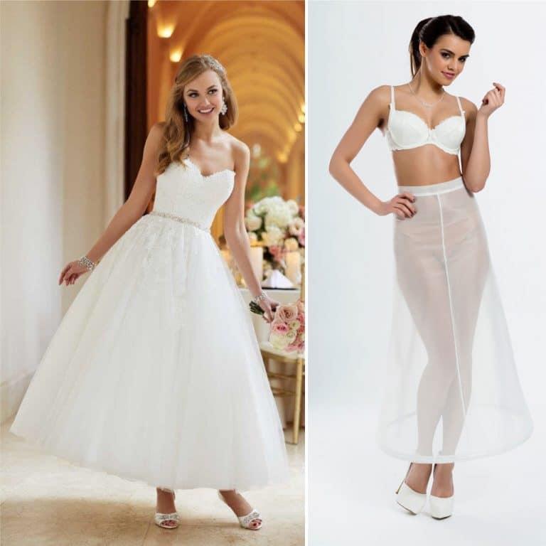 BP4-190 – Tea length bridal underskirt with one 190cm (75inch) hoop