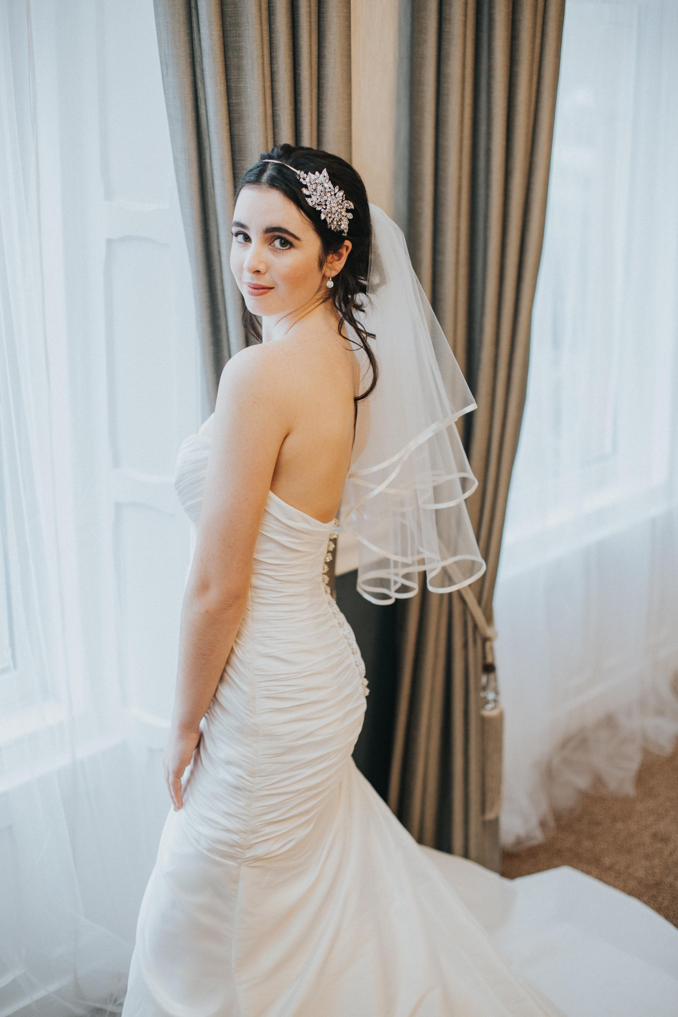 Fingertip Length Wedding Veil Embroidered Edge Wedding Veil New Wedding Veil Scallop Edge Wedding Veil
