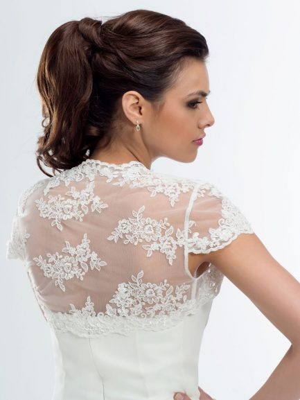 BB105 lace bridal bolero