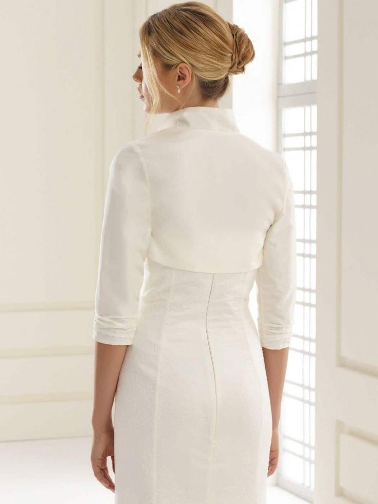 BB140 taffeta bridal bolero