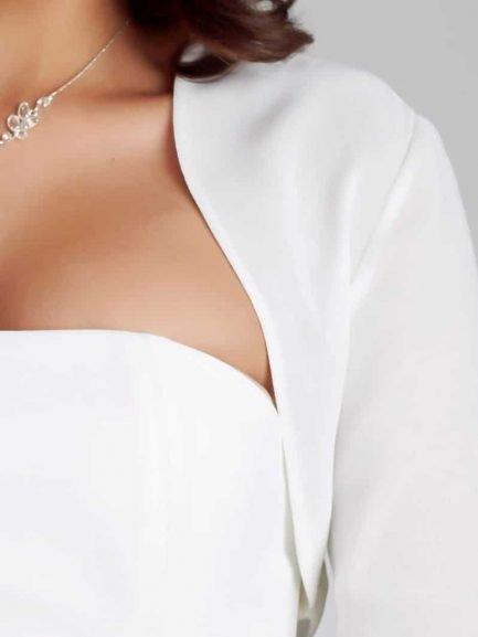 BB167 chiffon bridal bolero