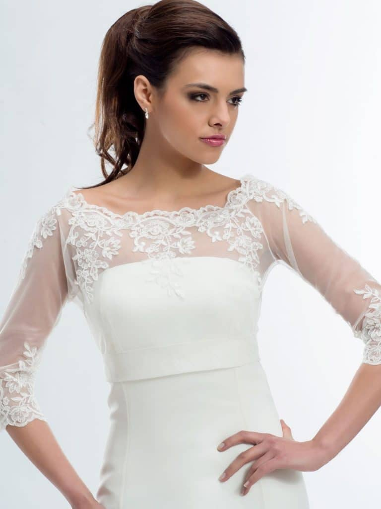 BB176 lace bridal jacket