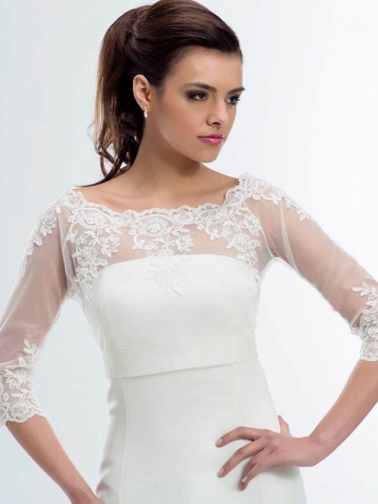 BB176 lace bridal jacket