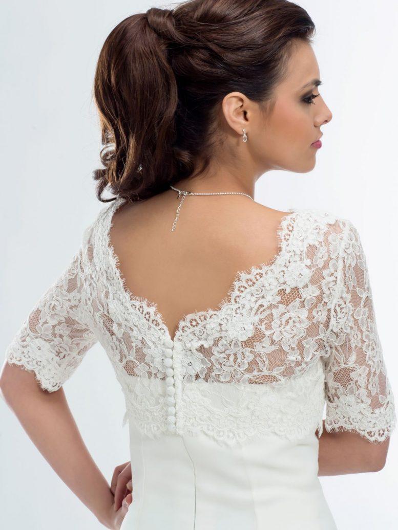 BB177 lace bridal jacket