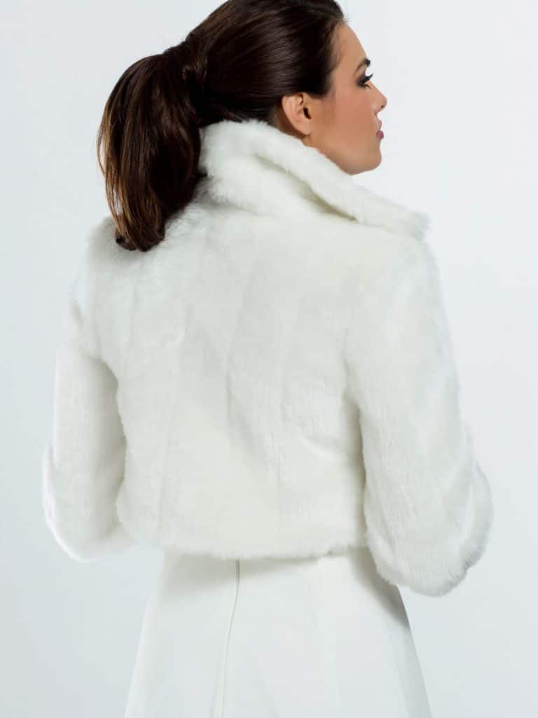 BB20 fur bridal jacket