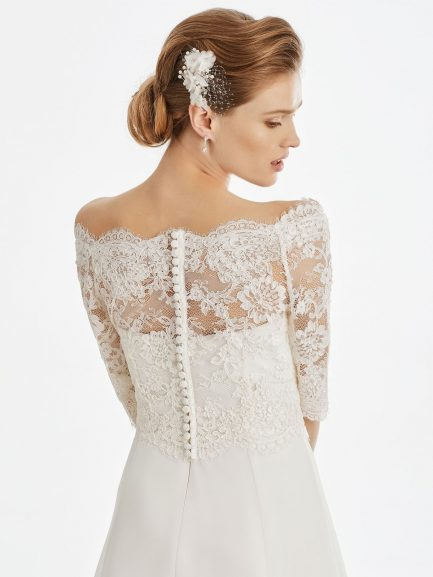 BB237 lace bridal jacket