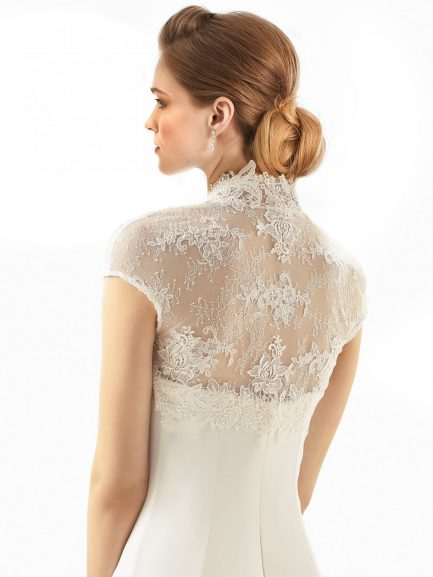 BB245 lace bridal bolero