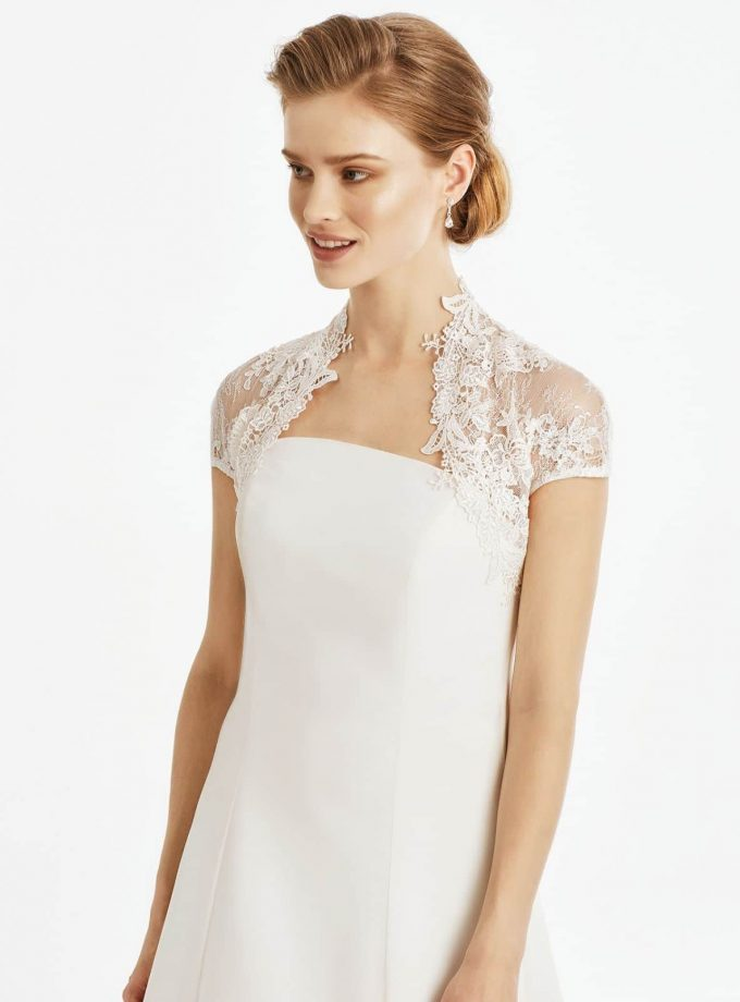 BB245 lace bridal bolero