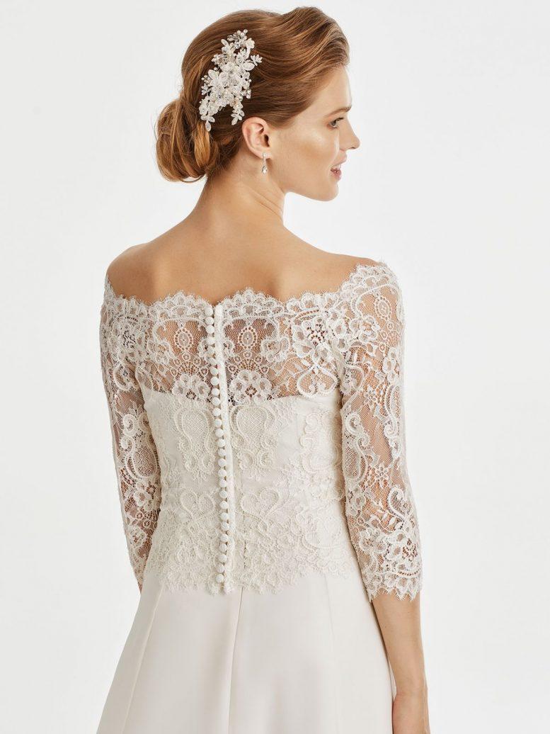BB255 lace bridal jacket
