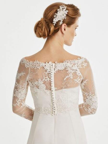 BB256 lace bridal jacket