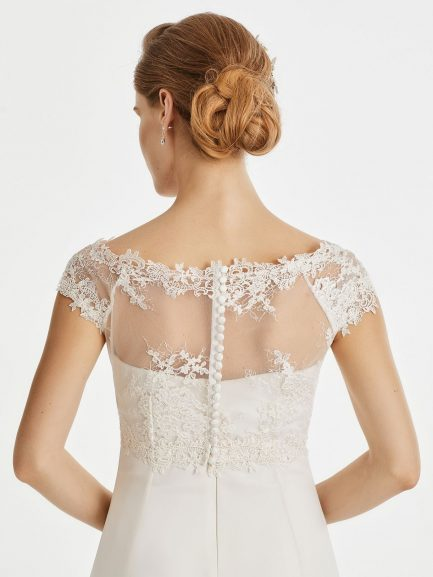 BB257 lace bridal jacket