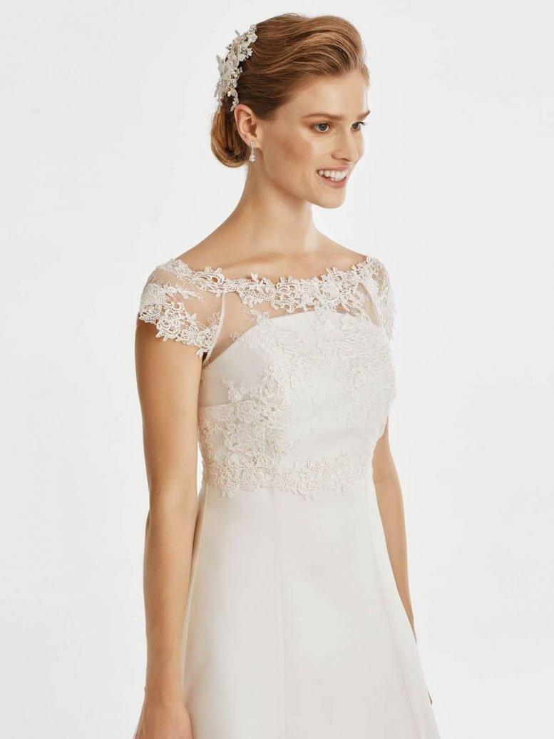 BB257 lace bridal jacket