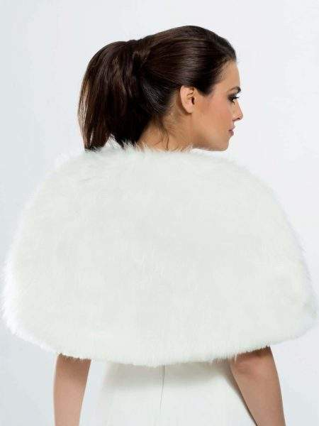 BB3 faux fur bridal wrap