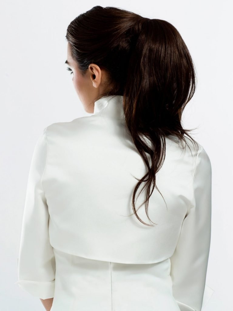 BB55s satin bridal jacket