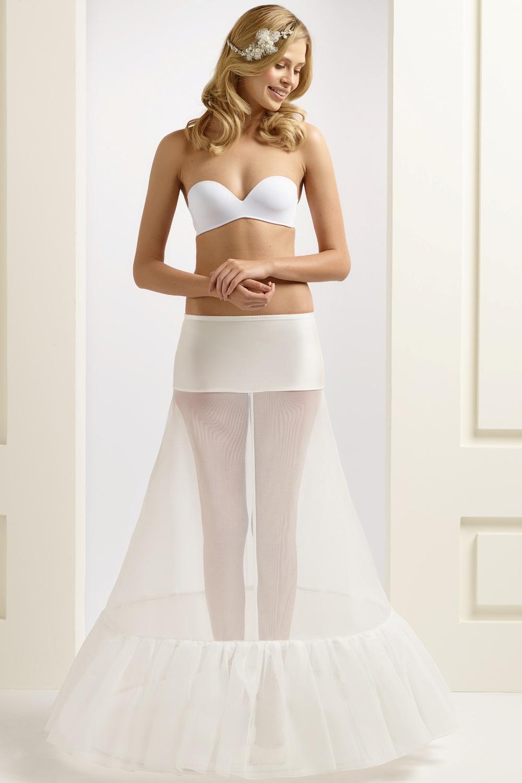 H1-270 BP1-270 A line wedding bridal underskirt petticoat with ruffles frills (1)