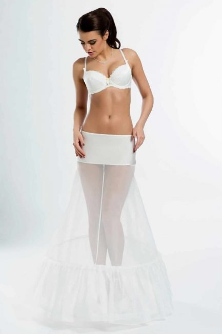 BP1-270 – elasticated A-line bridal underskirt with two 270cm (106 inch) hoops