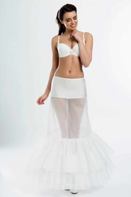 BP12-220 – Elasticated 220cm (87inch) fit & flare bridal underskirt with two hoops