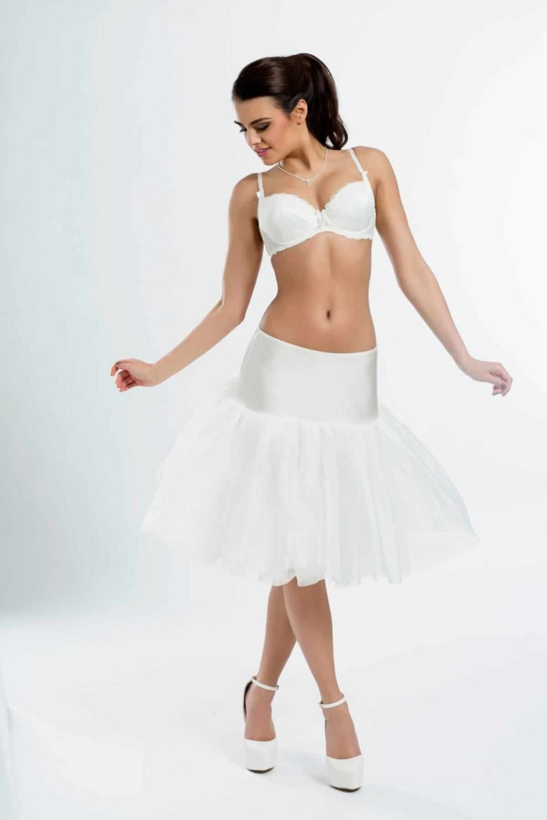 short bridal underskirt with no hoops