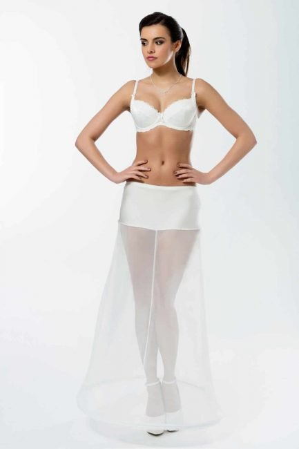 BP2-190 Elasticated 190cm (75inch) soft A-line petticoat with one hoop
