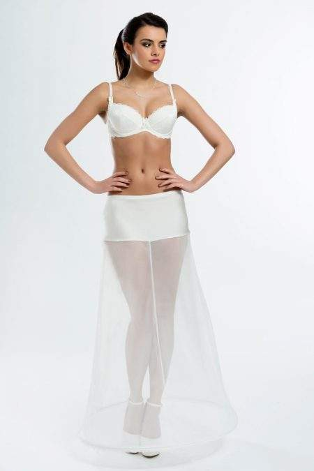SALE! BP2-220 – Elasticated 220cm (87inch) A-line petticoat with one hoop – Sizes 10 (S), 12 (M),16 (XL)