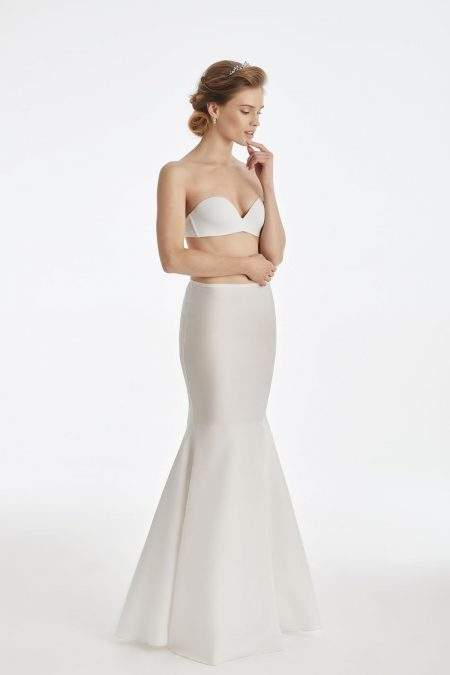 BP25 – Elasticated mermaid bridal underskirt with no hoops