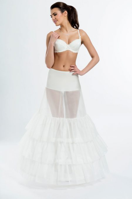 BP5-270 – Elasticated 270cm (106 inch) soft A-line bridal underskirt with three hoops