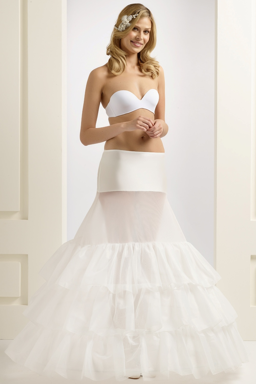 H5-370 BP5-370 extra wide full wedding bridal underskirt petticoat with ruffles (1)