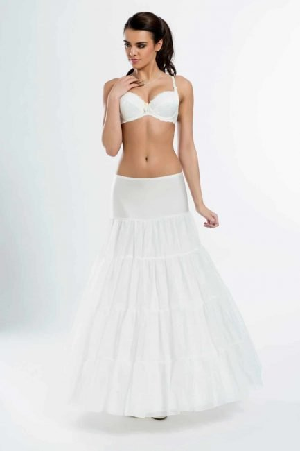 BP6-270 – elasticated A-line petticoat with three 270cm (106inch) hoops