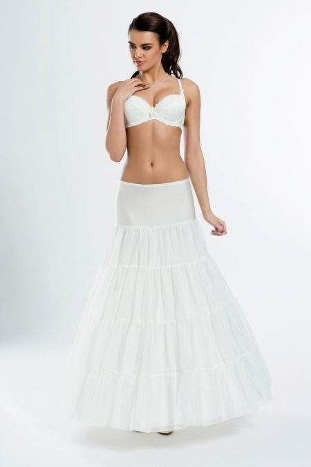 BP6-270 – Elasticated 270cm (106inch) A-line petticoat with three hoops