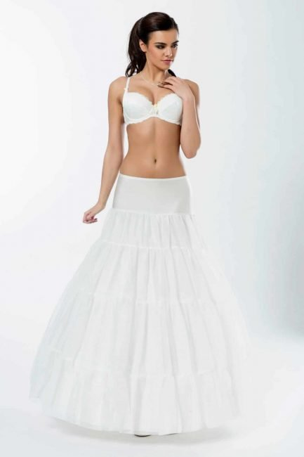 BP6-320 – elasticated A-line bridal underskirt with three 320cm (126 inch) hoops