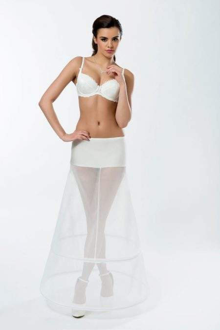 BP7-190 – Elasticated 190cm (75inch) soft A-line petticoat with two hoops