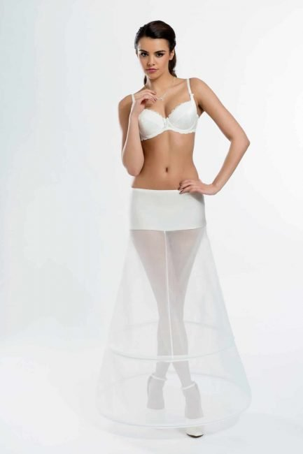 BP7-270 – elasticated A-line bridal underskirt with two 270cm (106 inch) hoops