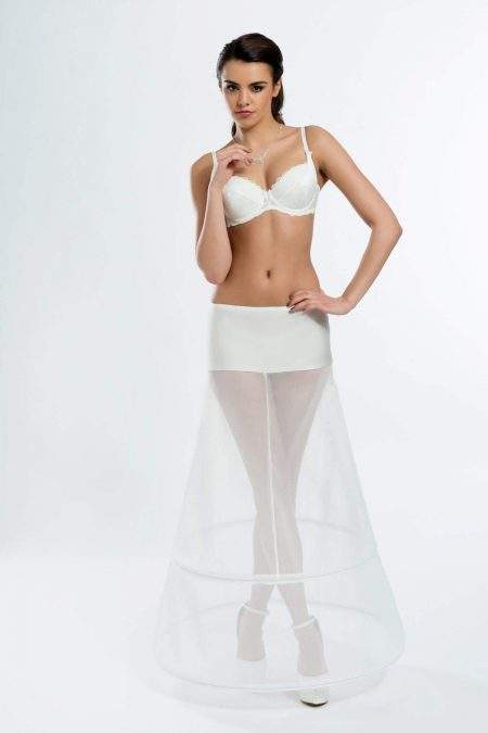BP7-270 – Elasticated 270cm (106 inch) A-line bridal underskirt with two hoops