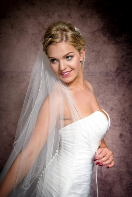 two layer floor length veil